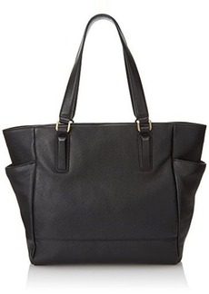 Kenneth Cole New York Nevins Tote Shoulder Bag, Black, One Size