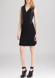 Kenneth Cole New York Norah Faux Leather Panel Dress