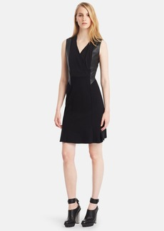 Kenneth Cole New York 'Norah' Surplice Fit & Flare Dress