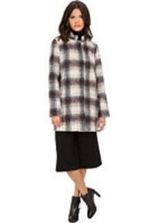 Kenneth Cole New York Novelty Plaid Wool Coat
