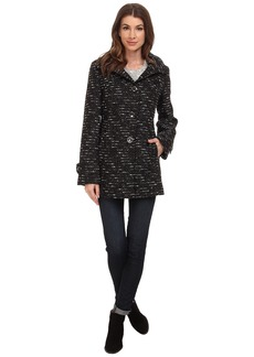 Kenneth Cole New York Novelty Wool Babydoll Coat