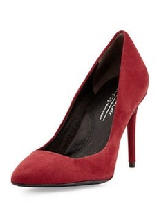 Kenneth Cole New York Parkville Suede Leather High-Heel Pump, Wine