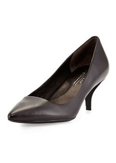 Kenneth Cole New York Pearl Leather Low-Heel Pump, Black