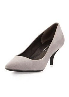 Kenneth Cole New York Pearl Suede Leather Low-Heel Pump, Light Grey