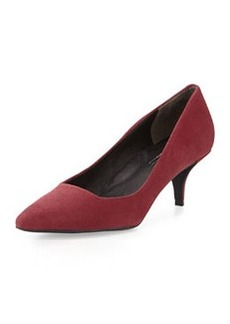 Kenneth Cole New York Pearl Suede Leather Low-Heel Pump, Wine