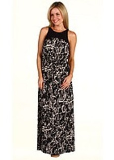 Kenneth Cole New York Petite Abstract Crackle Print Maxi Dress
