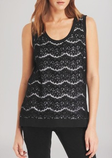 Kenneth Cole New York Precious Lace Front Tank