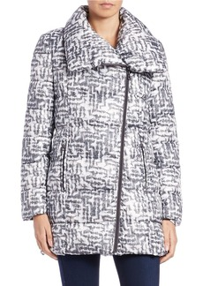 KENNETH COLE NEW YORK Printed Envelope-Collar Coat