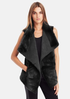 Kenneth Cole New York 'Remy' Faux Fur & Faux Suede Vest