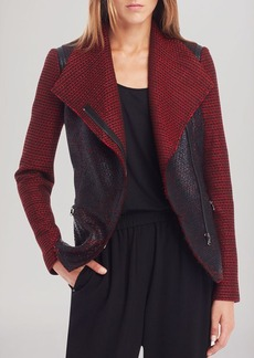 Kenneth Cole New York Scarlett Coated Tweed Jacket