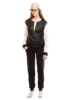 KENNETH COLE NEW YORK Sporty Perforated Bomber Jacket