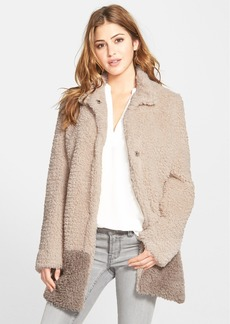 Kenneth Cole New York 'Teddy Bear' Colorblock Faux Fur Coat (Regular & Petite) (Online Only)