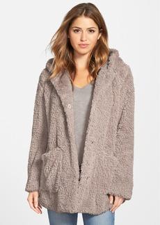 Kenneth Cole New York 'Teddy Bear' Faux Fur Hooded Coat