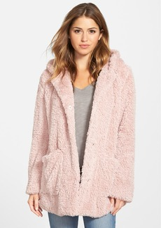 Kenneth Cole New York 'Teddy Bear' Faux Fur Hooded Coat