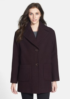Kenneth Cole New York Textured Wool Blend Walking Coat (Online Only)