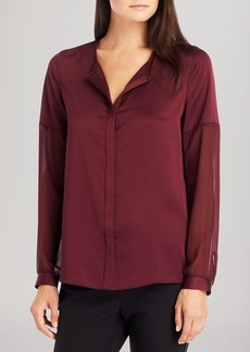 Kenneth Cole New York Tobin Sheer Sleeve Blouse