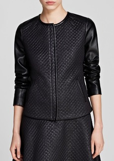 Kenneth Cole New York Torie Quilted Faux Leather Jacket - Bloomingdale's Exclusive