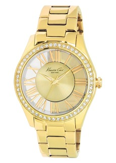 Kenneth Cole New York Transparent Dial Bracelet Watch, 39mm