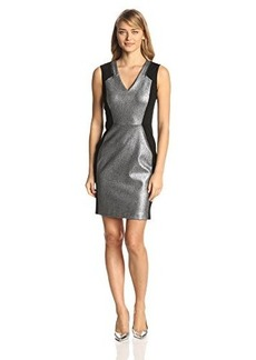 Kenneth Cole New York Women's Aurelie Color-Blocked Metallic Dress