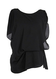 Kenneth Cole New York Women's Brandon Blouse, Black, Large