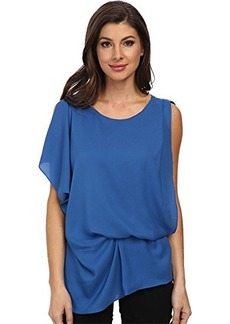 Kenneth Cole New York Women's Brandon Blouse, Delft, X-Small