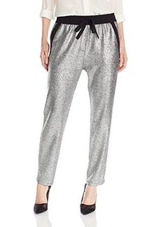 Kenneth Cole New York Women's Brody Pant, Silver, Large
