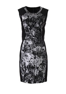 Kenneth Cole New York Women's Catalina Dress, Black/Multi, 4