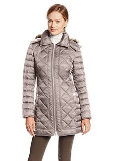 Kenneth Cole New York Women's Diamond-Quilted Down Coat