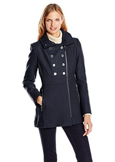 Kenneth Cole New York Women's Double-Breasted Military Coat