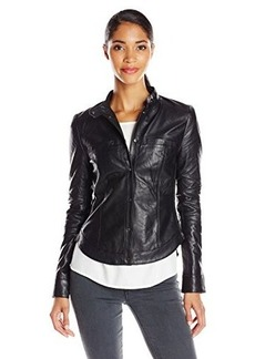 Kenneth Cole New York Women's Gerri Leather Jacket