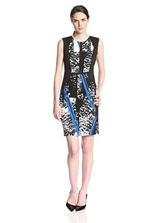 Kenneth Cole New York Women's Irene Dress, Delft Multi, 10