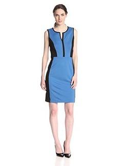 Kenneth Cole New York Women's Mckayla Dress, Delft/Black, 6