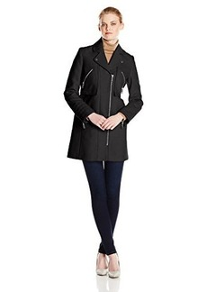 Kenneth Cole New York Women's Moto-Inspired Coat with Zipper Pockets