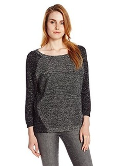 Kenneth Cole New York Women's Paiten Sweater, Black/Silver, X-Large