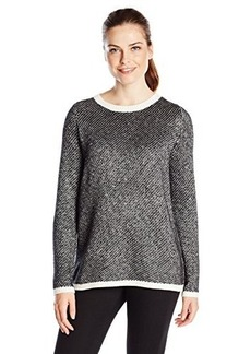 Kenneth Cole New York Women's Samara Sweater, Chalk/Charcoal, Small