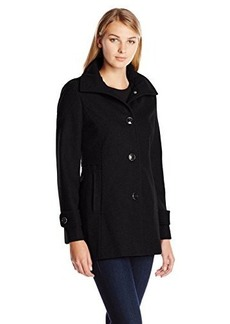 Kenneth Cole New York Women's Single Breasted Classic Wool Coat