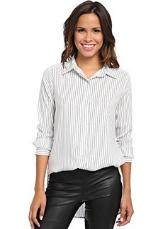Kenneth Cole New York Women's Terry Blouse, White/Multi, X-Small