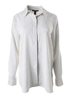 Kenneth Cole New York Women's Terry Blouse, White/Multi, Small