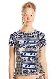 Kenneth Cole New York Women's Tribal Beat Short Sleeve Rash Guard