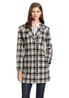 Kenneth Cole New York Women's Tweed Moto Coat