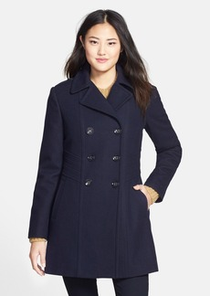 Kenneth Cole New York Wool Blend Military Peacoat