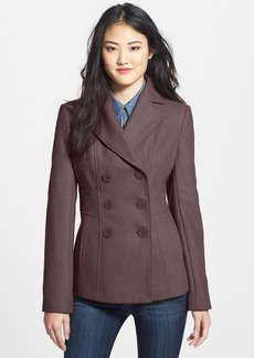 Kenneth Cole New York Wool Blend Peacoat (Regular & Petite)