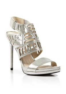 Kenneth Cole Open Toe Platform Slide Sandals - Niko High Heel