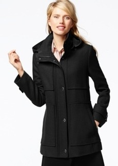 Kenneth Cole Petite Seamed Wool Babydoll Coat
