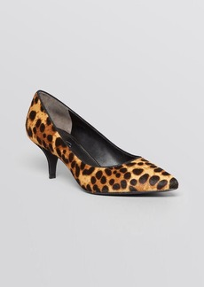Kenneth Cole Pointed Toe Pumps - Mirror Kitten Heel
