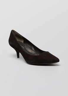 Kenneth Cole Pointed Toe Pumps - Pearl Kitten Heel