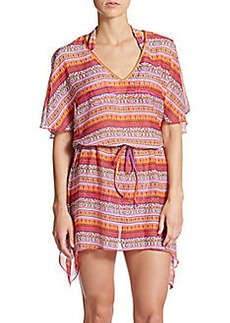 Kenneth Cole Printed Drawstring Coverup