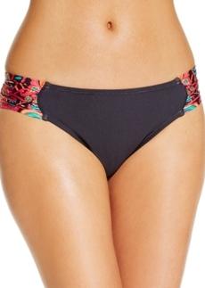 Kenneth Cole Printed Side-Tab Bikini Bottoms Women's Swimsuit