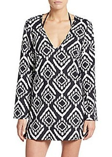 Kenneth Cole Printed Tunic Top