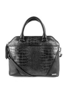 Kenneth Cole REACTION® 4 Easy Piece Pewter/Black Satchel